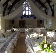 wedding set up cawthorne village 14