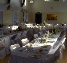 wedding set up cawthorne village 15